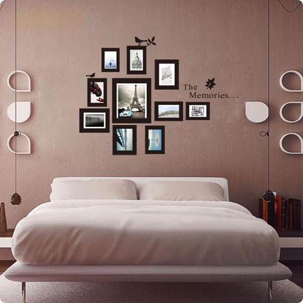 Bộ khung ảnh treo tường phòng ngủ đơn giản