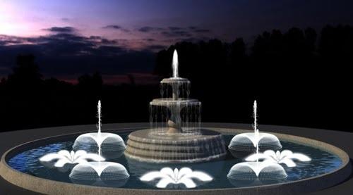 Đài phun nước xoay tròn nghệ thuật