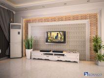 Gạch mosaic trang trí phòng khách