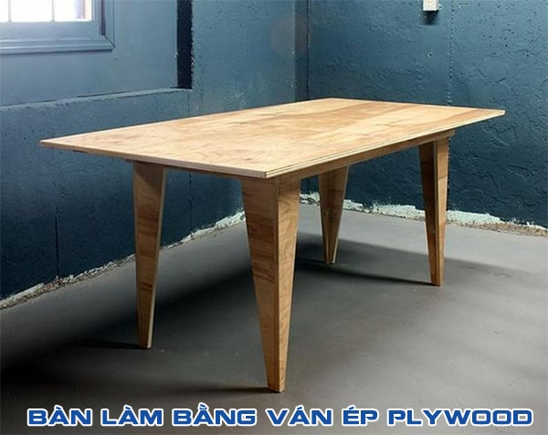 bàn làm bằng ván ép plywood